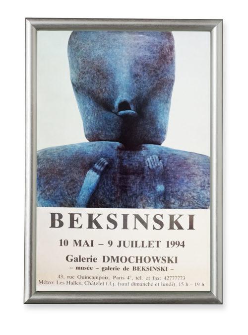 Afisz wystawy Zdzisława Beksińskiego - Galeria Dmochowski w Paryżu 1994 r.