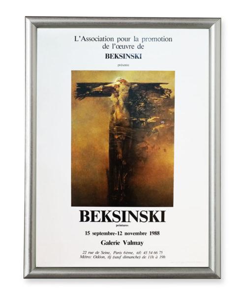 Afisz wystawy Zdzisława Beksińskiego – Galerie Valmay 1988
