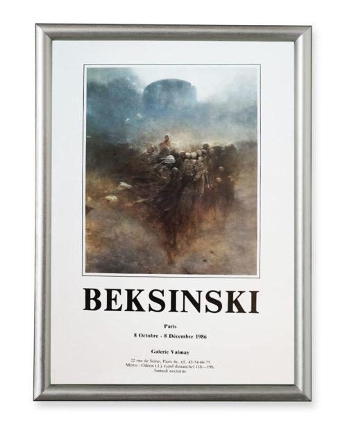 Afisz wystawy Zdzisława Beksińskiego – Galerie Valmay 1986