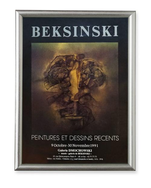 Afisz wystawy Zdzisława Beksińskiego - Galeria Dmochowski w Paryżu 1991 r.