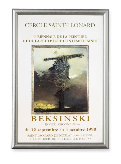 Zdzisław Beksiński afisz wystawy w Cercle Saint-Leonard 1998 r.