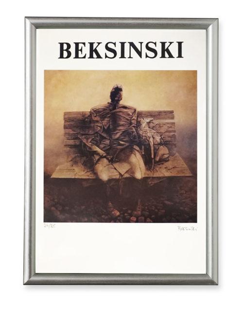 Zdzisław Beksiński plakat z autografem